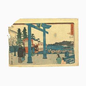 Utagawa Hiroshige, japanischer Holzschnitt, 19. Jh