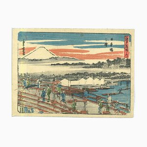 Utagawa Hiroshige, Japanese Landscape, Original Woodcut Print, 19th Century