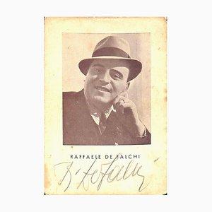 Raffaele De Falchi, Original Autographed Photograph, Mid-20th Century