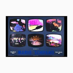 Unknown, Mario Schifano, TV Landscapes Poster Exhibition, Offset, 1990