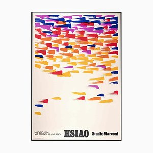 Hsiao Chin Ausstellungsplakat, Vintage Offsetdruck, 1984
