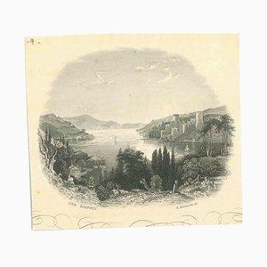 Der Bosporus, Original Lithographie, Mitte 19. Jh