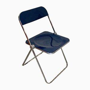 Navy Pila Folding Chair by Giancar Porto for Castelli / Anonima Castelli, 1960s