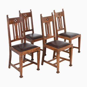 Arts and Crafts Dining Chairs, Set of 4