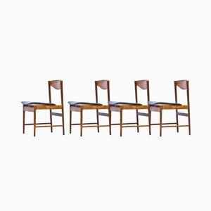 Palisander Stühle von Ib Kofod Larsen für Seffle Möbelfabrik, 4er Set