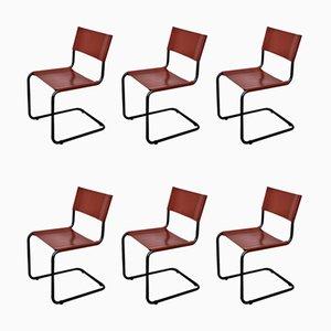 Germana Chairs by Gino Levi Montalcini for Zanotta, 1980s, Set of 6