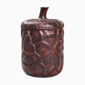 Vaso piccolo antico con coperchio, inizio XX secolo