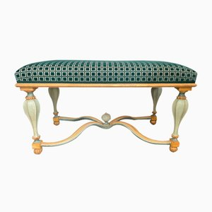 Italian Bench with Upholstery, 20th Century