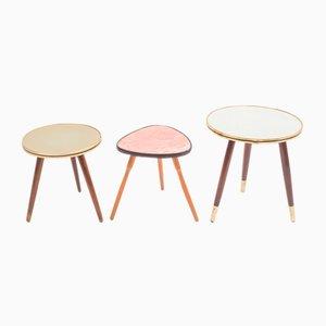 Tavolini, anni '50, set di 3