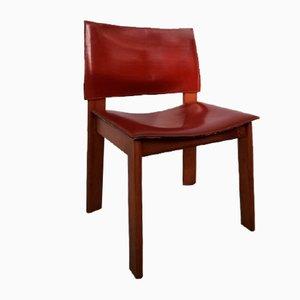 Leder Stühle von Tobia Scarpa für Molteni, 4er Set