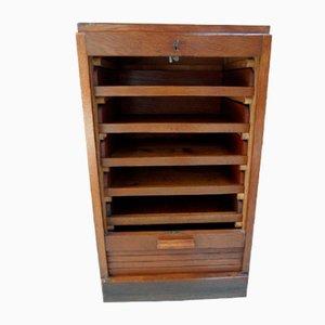 Vintage Filing Cabinet with Roller Shutter