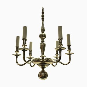 English Silver-Plated Chandelier, 1930s