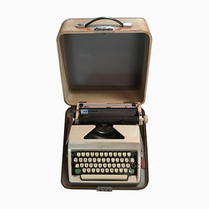 Olympia Monica Typewriter with Suitcase, 1960s
