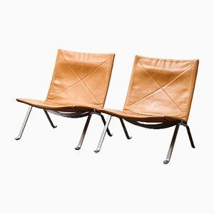 PK22 Lounge Chairs by Poul Kjaerholm for E. Kold Christensen, 1956, Set of 2
