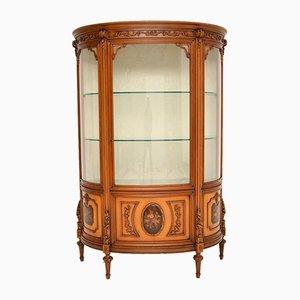 Italian Walnut Display Cabinet, 1950s