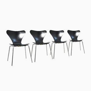 Vintage 3107 Butterfly Chairs by Arne Jacobsen for Fritz Hansen, Denmark, 1976, Set of 4