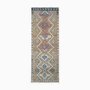 Vintage Turkish Karapinar Runner Carpet