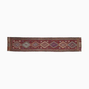 Vintage Turkish Oushak Kilim Runner Carpet
