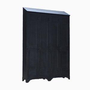 Mid-Century Industrial 4-Door Locker Cabinet