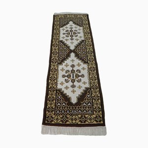 Vintage Hand-Knotted Runner Rug in Wool