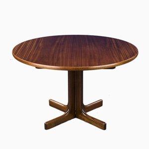 Runder Mid-Century Esstisch aus Mahagoni von WK Möbel, 1960er,