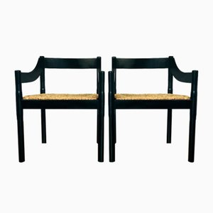 Carimate Armchairs by Vico Magistretti for Cassina, 1960s, Set of 2