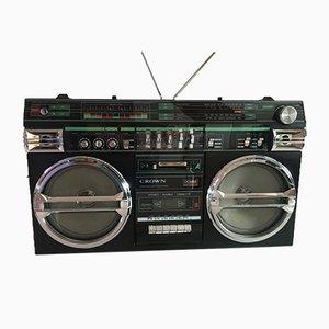 Radio y estéreo Crovn con grabadora, años 80