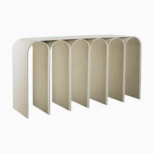 Mesa consola Arch en blanco de Pietro Franceschini