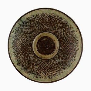 Große Schale aus glasierter Keramik von Gerd Bøgelund für Royal Copenhagen