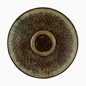 Large Bowl in Glazed Ceramics by Gerd Bøgelund for Royal Copenhagen
