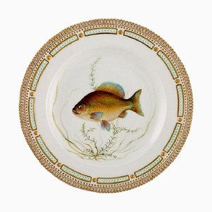 Royal Copenhagen Fauna Danica Fish Plate in Hand-Painted Porcelain