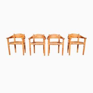 Esszimmerstühle aus Kiefernholz von Rainer Daumiller für Hirtshals Savvaerk, Dänemark, 1960er, 4er Set