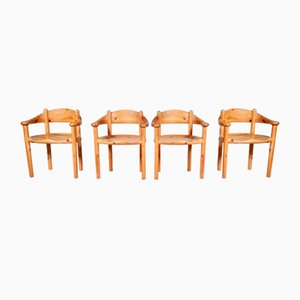 Pine Wood Dining Chairs by Rainer Daumiller for Hirtshals Savvaerk, Denmark, 1960s, Set of 4