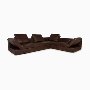 Kaja Brown Leather Sofa from COR