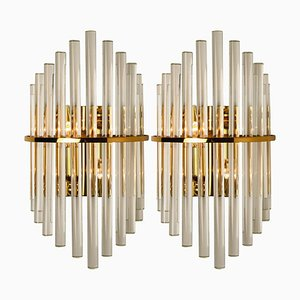 Glass Rod Wall Sconces by Sciolari for Lightoliers, Set of 2