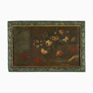 Natura morta con fiori, olio su tela