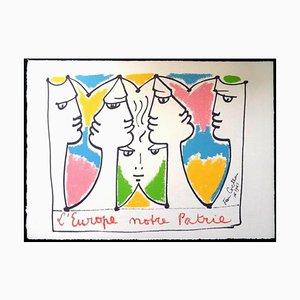 Jean Cocteau, Europa Bridge of Civilizations, Lithographie, 1961