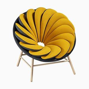 Quetzal Yellow Armchair by Marc Venot