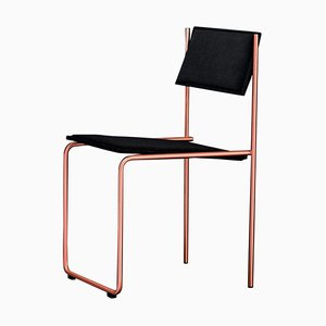 Trampolín Stuhl in Schwarz & Kupfer von Four Four