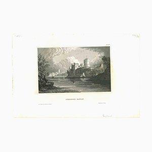 Pembroke Castle, Original Lithographie, Mitte 19. Jh