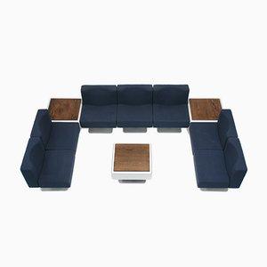 350 Modular Seating System by Herbert Hirche for Mauser Werke, 1970s, Set of 10