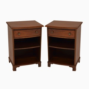 Antique Edwardian Mahogany Bedside Cabinets, Set of 2