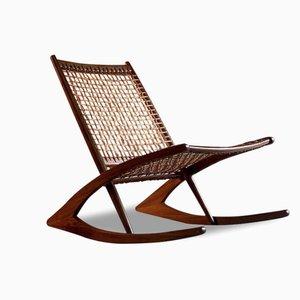 Norwegian Teak & Rosewood Model 599 Rocking Chair by Fredrik Kayser for Vatne Møbler, 1960s