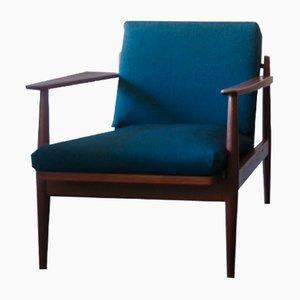 Skandinavischer Sessel aus Teak mit stilisierten Paperknife-förmigen Armlehnen, 1960er