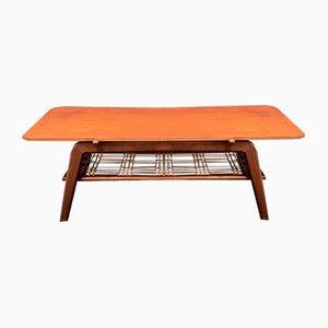 Vintage Couchtisch im skandinavischen Stil mit wendbarer Tischplatte aus Teak und Formica, 1950er-1960er