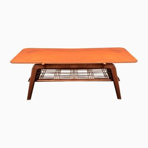 Vintage Scandinavian Style Coffee Table with Reversible Top in Teak and Formica, 1950s-1960s