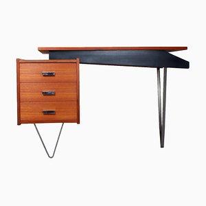 Teak Hairpin Schreibtisch von Cees Braakman für Pastoe, 1950er