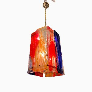 Mid-Century Multicolored Murano Glass Pendant Lamp