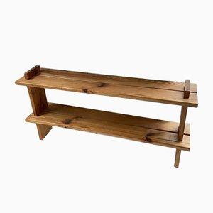 Pine Wall Shelf in the Style of Maison Regain