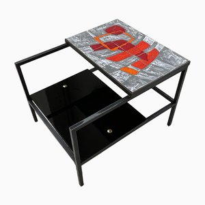 Modernist Ceramic Coffee Table by Pierre Guariche